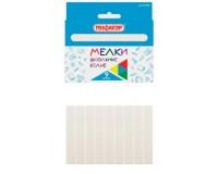 Мел белый Пифагор 227438 в комплекте - 9 штуки, квадратный, картонная упаковка