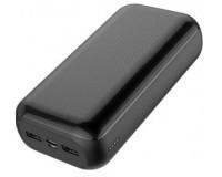 Портативное зарядное устройство GOLF G55-C 30000 мАч 1USB выход 5В/1А, 2USB выход 5В/2.1А, Type-C выход 5В/2.1А, + кабель Micro usb , черный