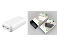 Портативное зарядное устройство GOLF G55-C 30000 мАч 1USB выход 5В/1А, 2USB выход 5В/2.1А, Type-C выход 5В/2.1А, + кабель Micro usb , белый