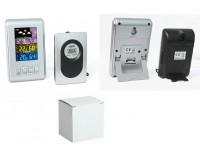 Метеостанция Орбита OT-HOM03 дисплей цветной, анимационный часы, будильник, комнатная/уличная температура, влажность, беспроводной датчик, серебро