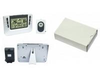 Метеостанция Орбита OT-HOM05 дисплей монохромный, часы, будильник, комнатная/уличная температура, влажность, беспроводной датчик, серебро