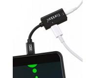 Переходник Earldom ET-OT32I штекер Iphone 5 - гнездо Iphone 5, гнездо Jack3.5, до 2А, черный, коробка,
