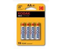 Батарейка Kodak FR6 BL 4 Max Lithium(L91)