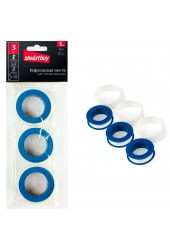 Лента сантехническая уплотнительная набор 3 шт, 5 м, 12 мм, 0.1 Smartbuy tools (SBT-FL-500)/240