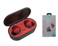 Наушники беспроводные Celebrat FLY-4 внутриканальные, Bluetooth V5.0 кейс для хранения и зарядки в комплекте (емкостью 500 мАч) красный коробка