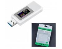 USB тестер Keweisi KWS-MX19 измерение тока, напряжения, энергии, сопротивления, QC2.0, QC3.0, белый