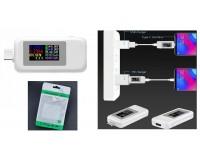 USB тестер Keweisi KWS-MX1902С Type-c 24pin, измерение тока, напряжения, энергии, сопротивления, QC2.0, QC3.0, PD, белый