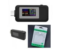 USB тестер Keweisi KWS-MX1902С Type-c 24pin, измерение тока, напряжения, энергии, сопротивления, QC2.0, QC3.0, PD, черный