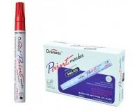 Маркер-краска лаковый Overseas PMA-520 2-2, 8 мм масляная основа, устойчивый к выцветанию цвет чернил: красный