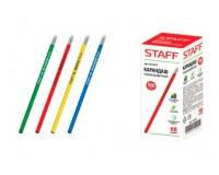 Карандаш чернографитный STAFF 181257 диаметр грифеля -2 мм, твердость-HB шестигранный пластиковый корпус, с резинкой