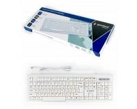 Клавиатура Gembird KB-8354U USB White 104 клавиши, красная кириллица