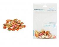Пуговицы декоративные Белоснежка 894-DB Лепестки в комплекте: 40 шт. размер 1, 8 см. материал: дерево, цвет: цветные