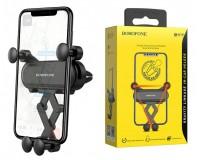 Держатель Borofone BH19 Eddie для смартфона/навигатора, до 6, 5' (60-100 мм), на решетку вентиляции, черный