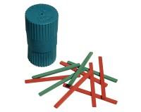 Счетные палочки МОЖГА С 21 (103682) двухцветные 50шт., размер - 78х2х8 мм, натуральное дерево, в пластиковом пенале
