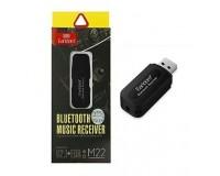 Адаптер Bluetooth Earldom ET-M22 4.1+EDR черный блютуз музыкальный приёмник для передачи музыки с телефона, планшета, ноутбука на колонки