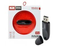 Адаптер Bluetooth Earldom ET-M40 5, 0 черный блютуз музыкальный приёмник для передачи музыки с телефона, планшета, ноутбука на колонки