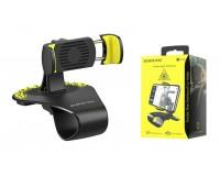 Держатель Borofone BH16 для смартфона/навигатора, до 6'' (58-90 мм), на панель, с визиткой черно-желтый