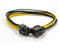 Кабель питания (удлинитель) PCI express Cablexpert длина 0, 3м, PCI-Express 6+2pin Male/ PCI-Express 6+2pin Female (CC-PSU-84)