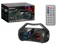 Акустическая система mini MP3 Defender G108 20Вт BT/FM/USB/MIC питание USB 5 В , Li-Ion 1200 мАч, разъем для микрофона, черный