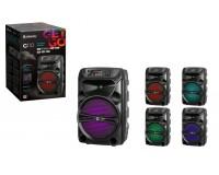 Акустическая система mini MP3 Defender G110 12Вт BT/FM/USB/AUX питание USB 5 В , Li-Ion 1200 мАч, возможность сопряжения двух отдельных колонок по Bluetooth в акустическую 2.0 систему, AUX-аудиовход черный