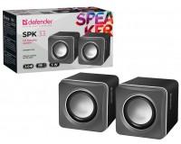 Акустические системы 2.0 Defender SPK 33 2х2, 5Вт корпус пластик, питание от USB, 5В, серый (65632)
