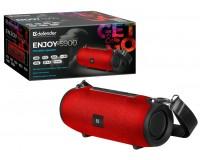 Акустическая система mini MP3 Defender Enjoy S900 10Вт BT/FM/TF/USB/AUX аккумулятор Li-Ion 1200mA, возможность сопряжения двух отдельных колонок по Bluetooth в акустическую 2.0 систему красный