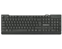 Клавиатура Defender Element HB-190 RU USB Black 104 клавиши цвет раскладки: белый