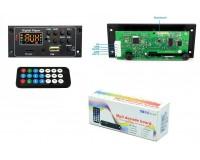 Модуль MP3 Орбита OT-SPM04 Bluetooth, FM, microSD, USB, AUX 3.5mm, размер: 9, 4х4х2, 2 см., дисплей, питание 12V, чип: CW6611E, пульт ДУ, шлейф-5pin черный