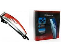 Набор для стрижки SAKURA SA-5106R [POWER]Вт, 4 универсальные насадки, материал ножей:нержавеющая сталь, красный