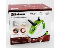 Отпариватель SAKURA SA-3903GR 1700Вт, 1.7 л, бело-зеленый