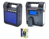 Приемник Fepe FP-26 аккумуляторный, USB/microSD до 32Гб, Bluetooth, питание: аккумулятор 2*18650 (1200mA) - в комплекте, шнур ЗУ в комплекте, размер: 22х17см, фонарик