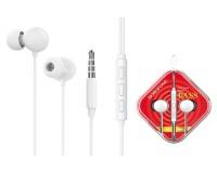 Наушники с микрофоном Borofone BM45 Sound wave внутриканальные, кабель 1, 2м, коробка, белый