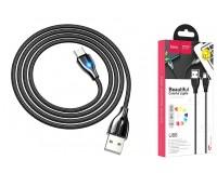 Кабель Type-C HOCO длина 1, 2м, USB2.0, 3А, коробка, черный (U88 Amazing colors)