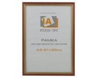 Рамка Image Art Сосна c15 21х30 красный с золотой полоской, дерево