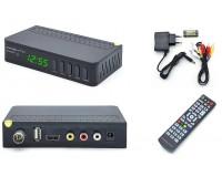 Цифровой телевизионный ресивер Орбита OT-DVB23 DVBT2/C + медиаплеер HD 1080p, Wi-Fi: требуется внешний USB адаптер (совместим с чипами MT7601), внешний блок питания