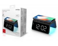 Беспроводное зарядное устройство SmartBuy SBP-W-101 входной ток: 5-9В выходной ток: 10 Вт, до 2.4 A с функцией часов, будильника и подсветкой, коробка