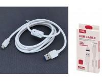 Кабель Type-C MUJU длина 1, 5м, USB2.0, 2, 1A, коробка, белый (MJ-81)