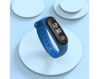 Часы наручные EZRA SW22 электронные (дата, время), пластик, синий