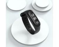 Часы наручные EZRA SW22 электронные (дата, время), пластик, черный
