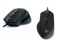 Мышь игровая Gembird MG-570 USB Optical (800/1600/2400/3200 dpi) черная, 6 кнопок+колесо-кнопка Soft touch покрытие, RGB подсветка коробка