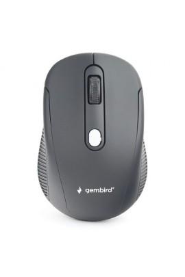 Мышь беспроводная Gembird MUSW-420 USB Optical 1000/1600dpi черная, 3 кнопки+колесо-кнопка покрытие Soft Touch для комфортной работы, бесшумная, блистер