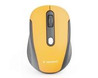 Мышь беспроводная Gembird MUSW-420-3 USB Optical 1000/1600dpi оранжевая, 3 кнопки+колесо-кнопка покрытие Soft Touch для комфортной работы, бесшумная, блистер