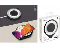 Беспроводное зарядное устройство Deppa 24008 Qi Fast Charger входной ток: 5В/2А, 9В/2А выходной ток: 9В/1.2А, 5В/1.5А, 5В/1А 10W, стандарт Qi, ночник, черный