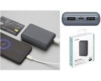 Портативное зарядное устройство Deppa 33550 NRG Power 10000 mAh 10000 мАч 2USB, выходной ток (всего): DC 5V 2.1A (max), вход microusb, серый