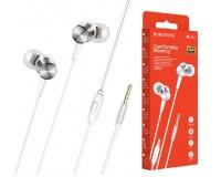 Наушники с микрофоном Borofone BM52 Revering внутриканальные, кабель 1, 2м, коробка, серебро