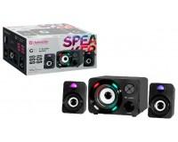 Акустические системы 2.1 Defender G11 5+2х3Вт Bluetooth, FM-тюнер, MP3, SD/USB, чёрные (65011)