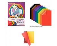 Бумага цветная Пифагор 129560