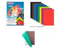 Бумага цветная Пифагор 129561