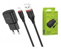 Зарядное устройство Borofone BA48A Orion + кабель MicroUSB 2100 mA USB 1хUSB, выходной ток: USB-2, 1А, черный, коробка