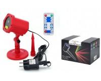 Световая установка Огонек OG-LDS08 Лазерный диод: зелёный 532 нм(50mW), красный 650нм (100mW), IP65, помещение и улица, красный